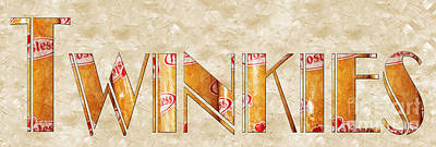 Digital Art - The Word Is Twinkies by Andee Design
