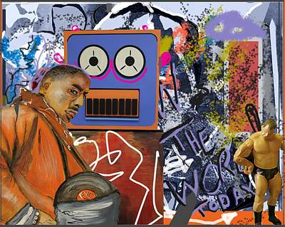 Grafitti Mixed Media - 'the Word Today' by Andy Waudby