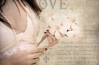 The Words You Say. Love Letters Art Print by Jenny Rainbow