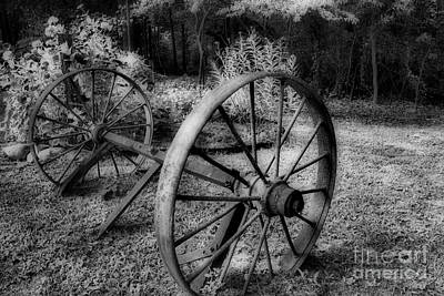 Wagon Wheels Photograph - The Work I Have Seen by Skip Willits