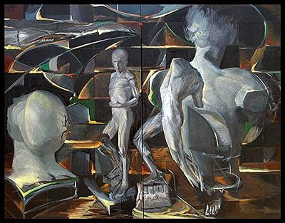 Painting - The Work Shop by John L Campbell