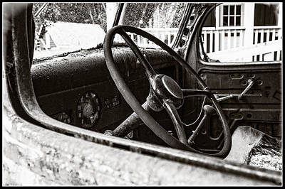 Photograph - Dodge Truck Steering Wheel by Roxy Hurtubise