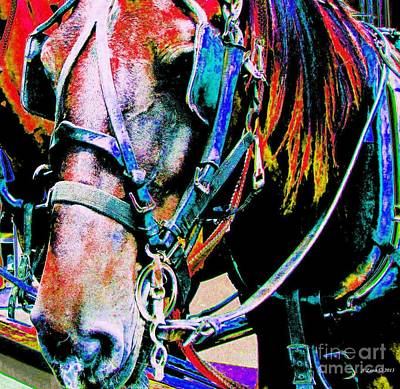 Art Print featuring the photograph The Working Horse by Annie Zeno