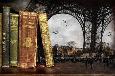 Paris Skyline Royalty-Free and Rights-Managed Images - The Works Under the Eiffel Tower by Evie Carrier