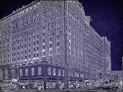 Drawing - The World Famous Peabody Hotel by Barry Jones
