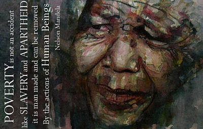 Portrait Painting - The World Holds It's Breathe by Paul Lovering
