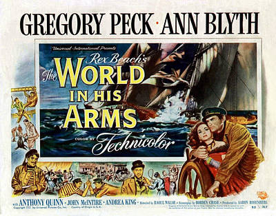 1950s Movies Photograph - The World In His Arms 1952 by Mountain Dreams
