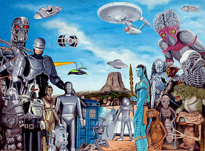 Painting - The World Of Sci Fi by Tony Banos