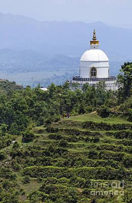 World Peace Photograph - The World Peace Pagoda Pokhara by Robert Preston