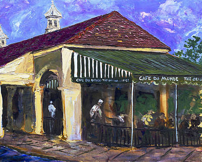 Cafe Du Monde Painting - The World by Robert Sutton