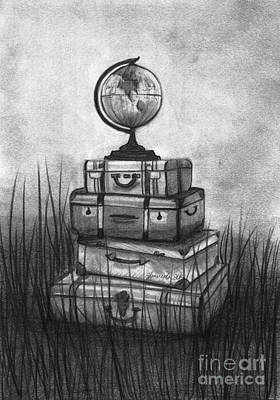 Pencil Drawings Drawing - The World We Want by J Ferwerda