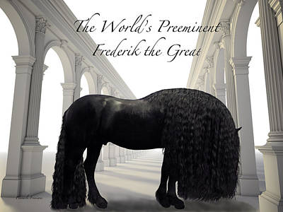 Photograph - The Worlds Preeminent Frederik The Great by Pinnacle Friesians