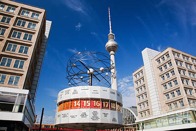 Photograph - The Worldtime Clock Alexanderplatz Berlin Germany by Michal Bednarek