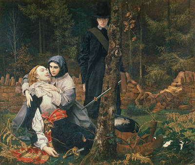 The Wounded Cavalier, 1855 Oil On Canvas Print by William Shakespeare Burton