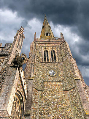 Photograph - The Wrath Of God - Thaxted Church by Gill Billington