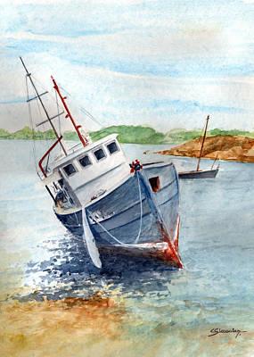 The Wreck Art Print by Christian Simonian