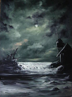 Knifework Painting - The Wreck by Eugene Budden