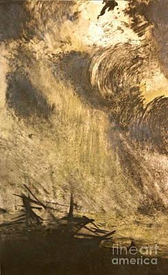 The Wreck- Mono Print Art Print by Deborah Talbot - Kostisin