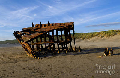 Peter Iredale Photograph - The Wreck Of The Peter Iredale - Oregon by Yefim Bam
