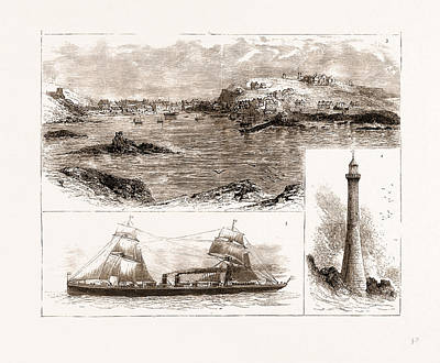 Lighthouse Drawing - The Wreck Of The Schiller On The Scilly Isles by Litz Collection