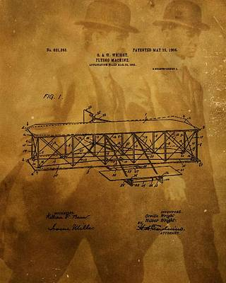 The Wright Brothers Airplane Patent Art Print