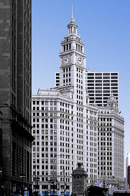 Urban Scenes Photograph - The Wrigley - A Building That Is Pure Chicago by Christine Till