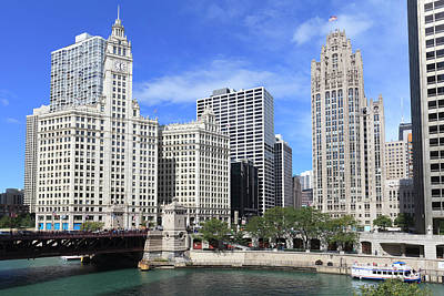 Chicago Photograph - The Wrigley Building And Tribune Tower by Amanda Hall / Robertharding