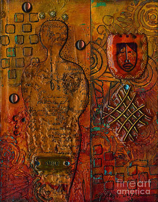 Mixed Media - The Writer by Angela L Walker