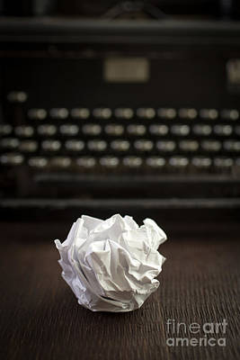 Typewriter Photograph - The Writer by Edward Fielding