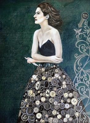 The Writer's Muse Art Print by Enzie Shahmiri