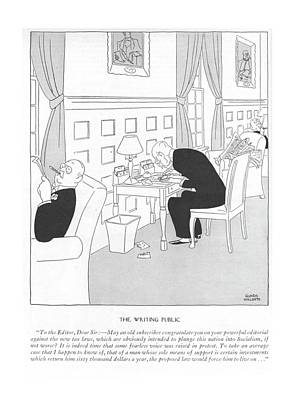 The Economy Drawing - The Writing Public To The Editor by Gluyas Williams