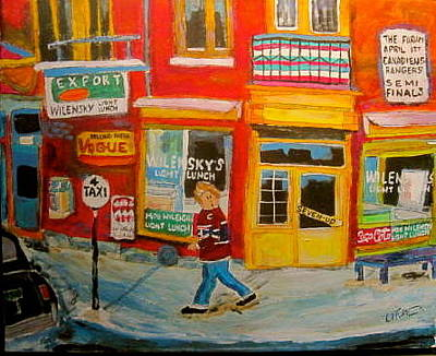 Mordecai Richler Painting - The Wrong Side Of The Tracks by Michael Litvack