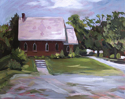 Painting - The Wyben Union Church by Nancy Griswold