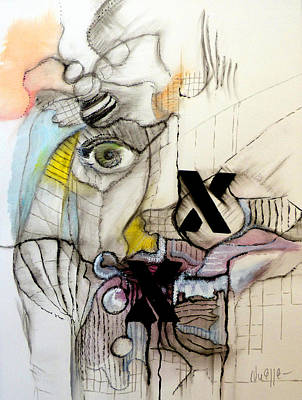 Abstract Expressionism Drawing - The X Factor by Elwira Pioro