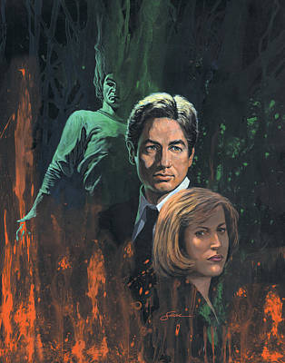 The X-files Painting - The X Files by Harold Shull
