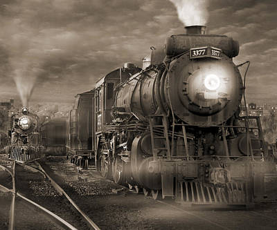 Train Digital Art - The Yard 2 by Mike McGlothlen