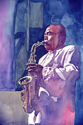 Jazz Painting Royalty Free Images - The Yardbird Royalty-Free Image by David Lloyd Glover
