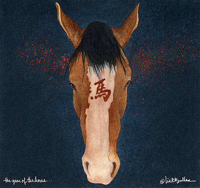 The Year Of The Horse... Art Print by Will Bullas