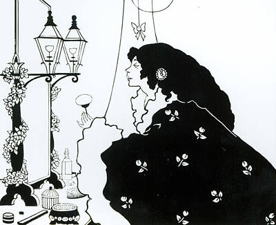 Vain Painting - The Yellow Book  by Aubrey Beardsley