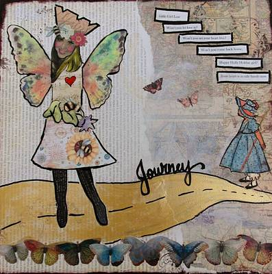 Etc Mixed Media - The Yellow Brick Road by Debbie Hornsby