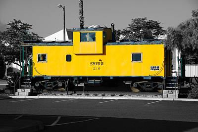 Photograph - The Yellow Caboose by Richard J Cassato