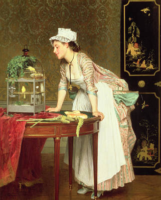 Canary Painting - The Yellow Canaries by Joseph Caraud