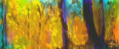 Digital Art - The Yellow Canopy Of Autumn by Jim Vance