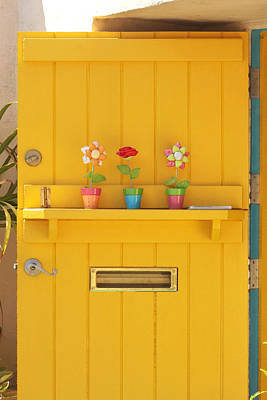 San Diego Artist Photograph - The Yellow Door by Art Block Collections