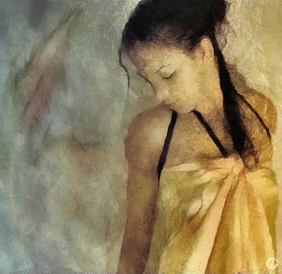The Yellow Dress Art Print by Gun Legler