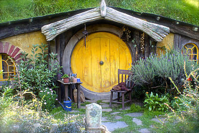 Yellow Hobbit Door Art Print