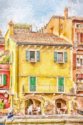 Photograph - Painted Effect - The Yellow House by Susan Leonard