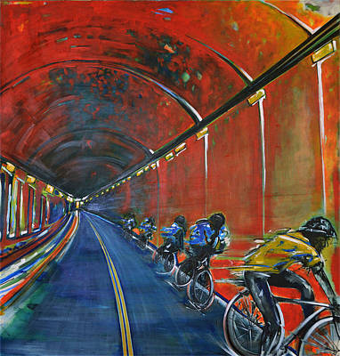 The Yellow Jersey Art Print by Nancy Hilliard Joyce