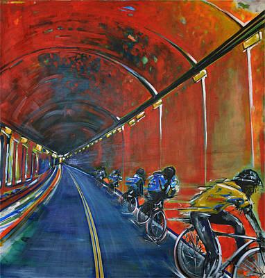 Painting - The Yellow Jersey by Nancy Hilliard Joyce