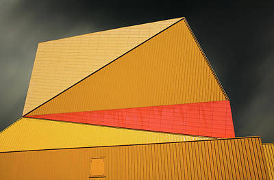 Architects Photograph - The Yellow Roof by Gilbert Claes